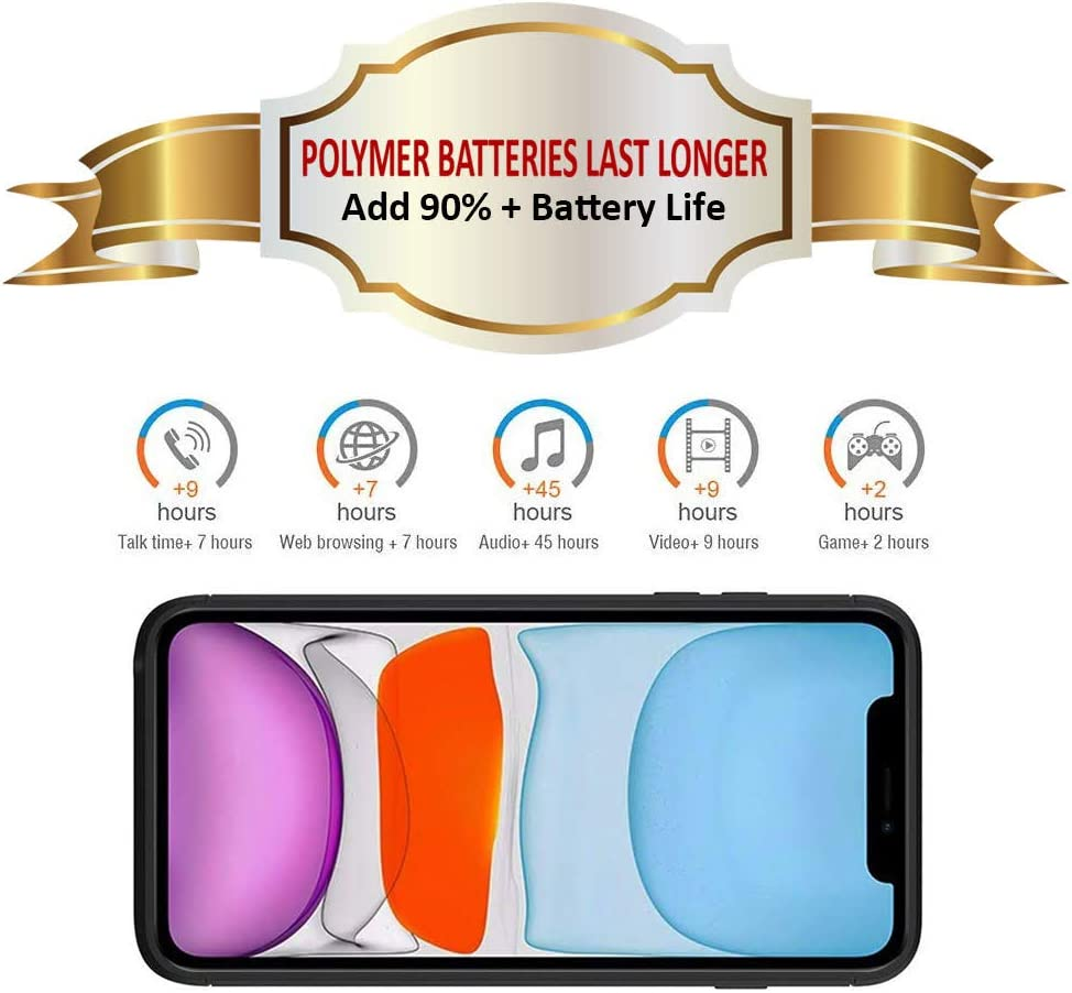 Oxin.Deal 5.8 inch Extended Battery Charger Case Backup Power Bank 5200mAh Portable Rechargeable Battery Pack Charging Case for iPhone 11 Pro Battery Case for iPhone 11 Pro