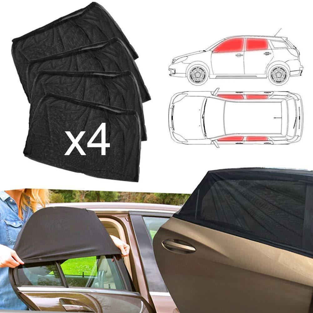 Enfants et Animaux de Compagnie Compatible avec la Plupart des Auto lymty Pare-soleils pour Vitres Lat/érales Auto,Protection UV Maximale,4 Pcs Pare-Soleil pour B/éb/és