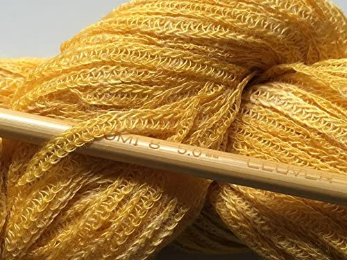Berroco Linus #6812 Cuckoo Yellow-Gold Linen Blend Yarn 50gr 159yd Crepe Worsted