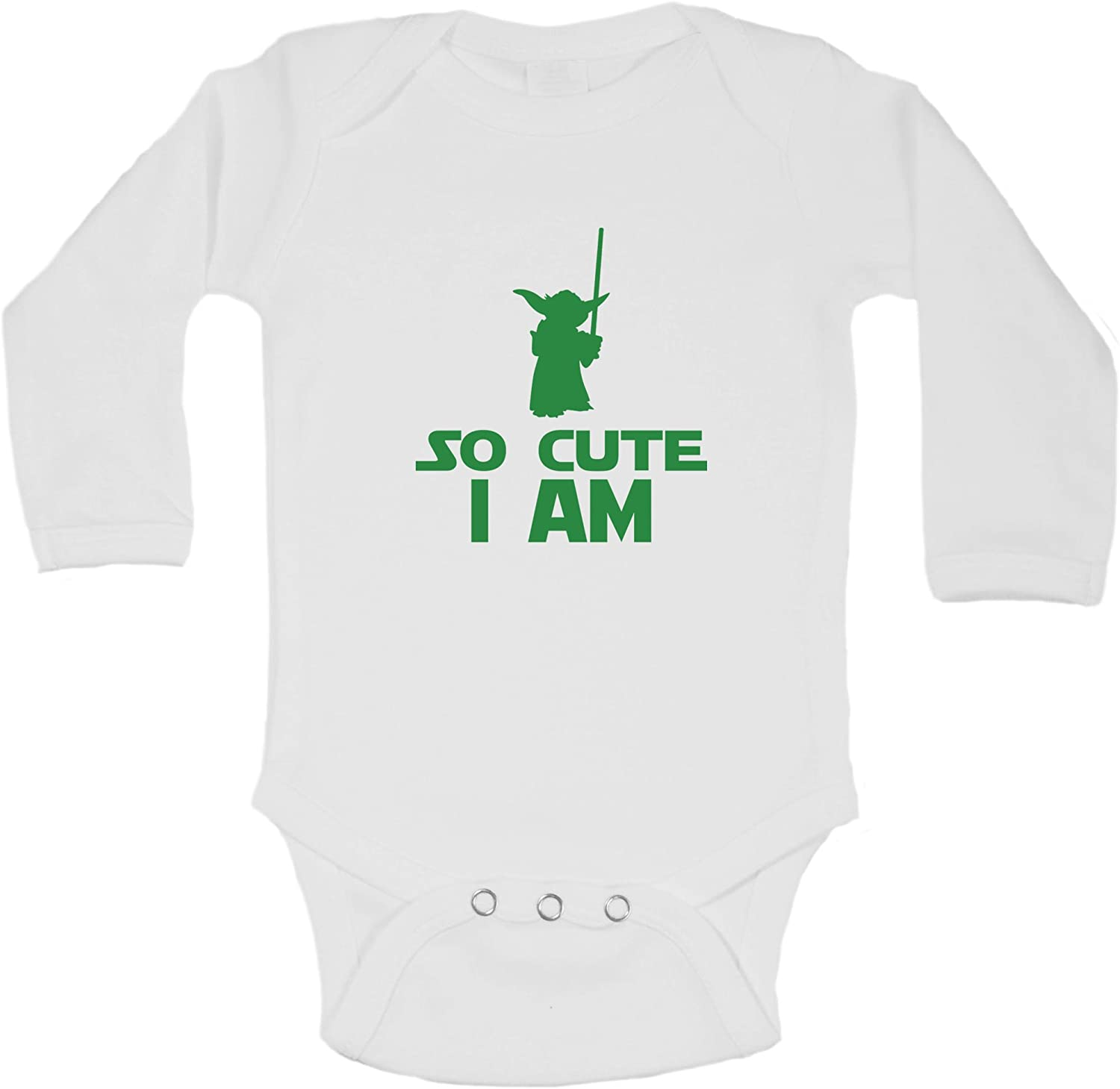 Funny Threadz Kids Funny Kids Onesie So Cute I Am Starwars Yoda Onesie
