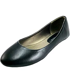 bc56a40a6bbe7 West Blvd Women s Ballet Flats Basic Round Toe Ballerina Flats Shoes One  Stop Collection
