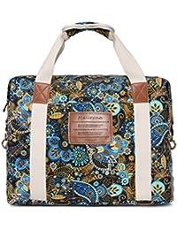 Ladies Women Canvas Travel Weekender Overnight Carry-on Shoulder Duffel Tote Bag Bohemian Flower