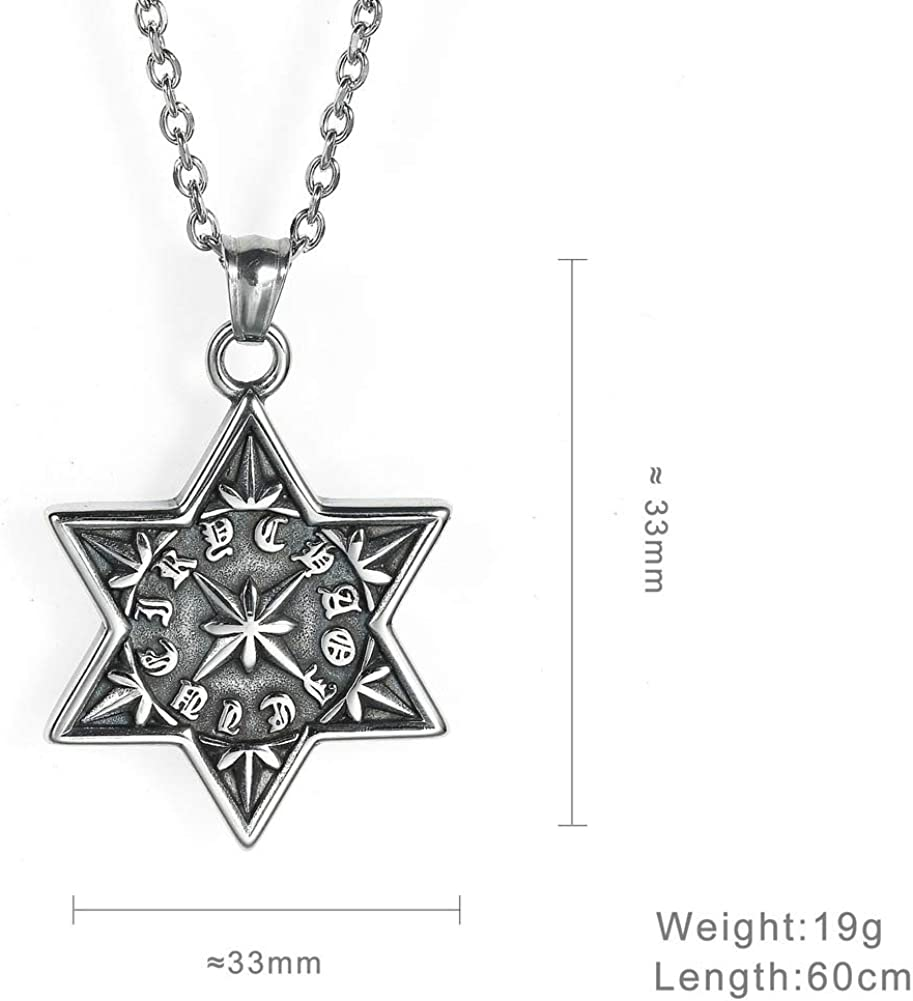 Wyanger Fashion Pendant Vintage Hip Hop Titanium Steel Necklace