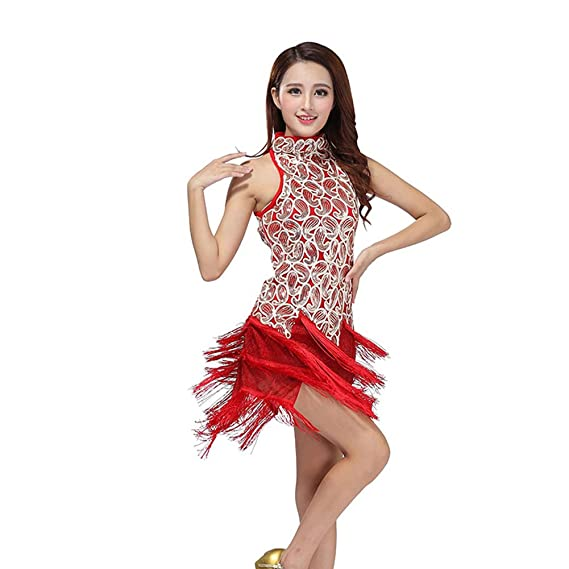 0302d73bd Prettyia Ballroom Practise Dance Dresses Modern Waltz Tango Smooth Ballroom  Dance Costumes for Women Flamenco Dresses ...