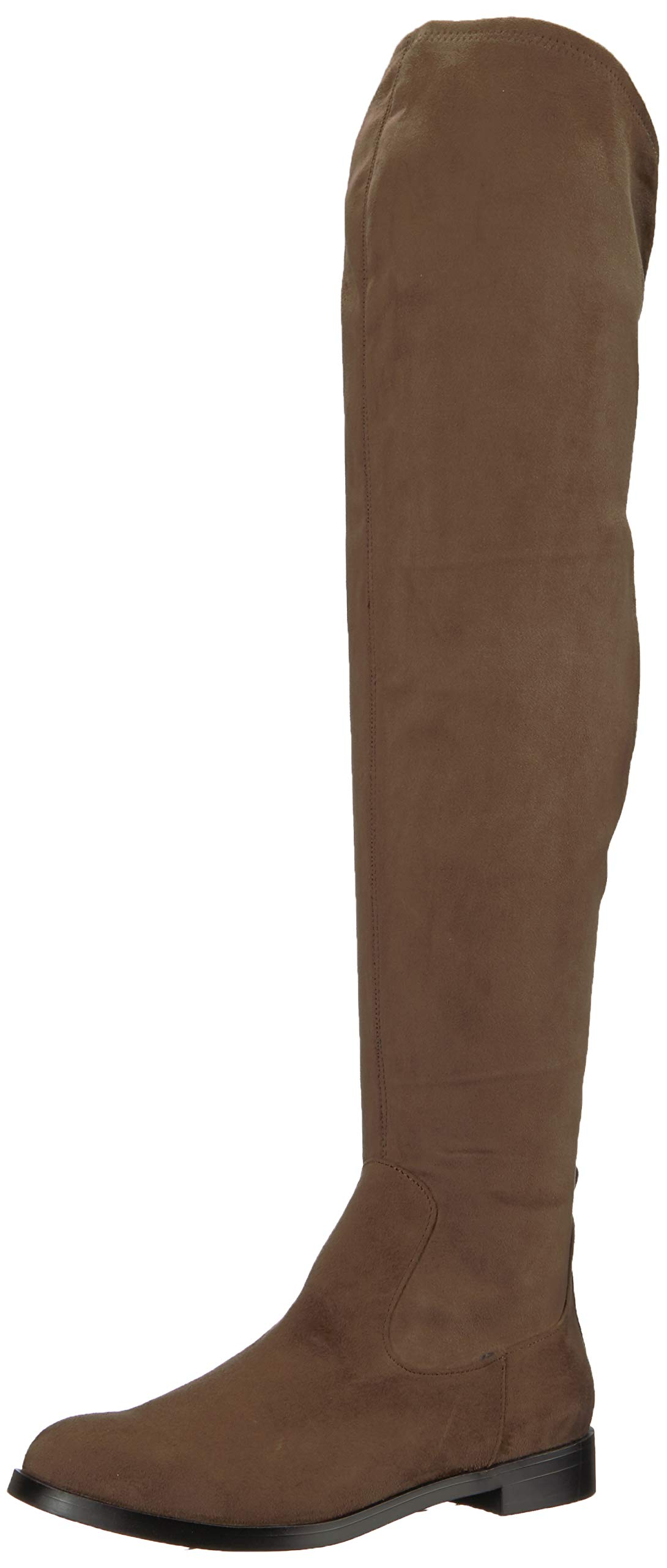 Kenneth Cole REACTION Women's Wind-y Over The Knee Stretch Boot, Dark Taupe, 9.5 M US by Kenneth Cole REACTION