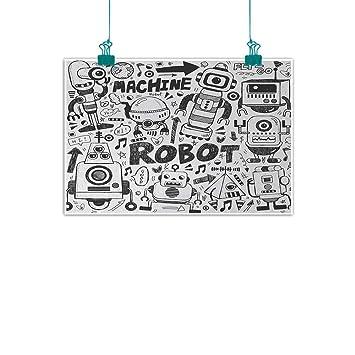 Amazon.com: Jiangni - Cartel de tela, estilo retro, para ...
