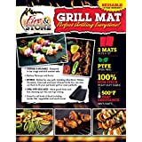 Fire and Stone BBQ Grill Mat - Set of 2 Mats, Thick, Durable, Non-Stick, Heat Resistant and Dishwasher Safe