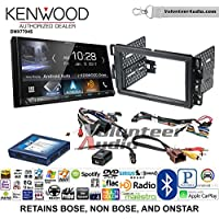 Volunteer Audio Kenwood DMX7704S Double Din Radio Install Kit with Apple CarPlay Android Auto Bluetooth Fits 2007-2013 Silverado, Avalanche (Onstar and Bose)
