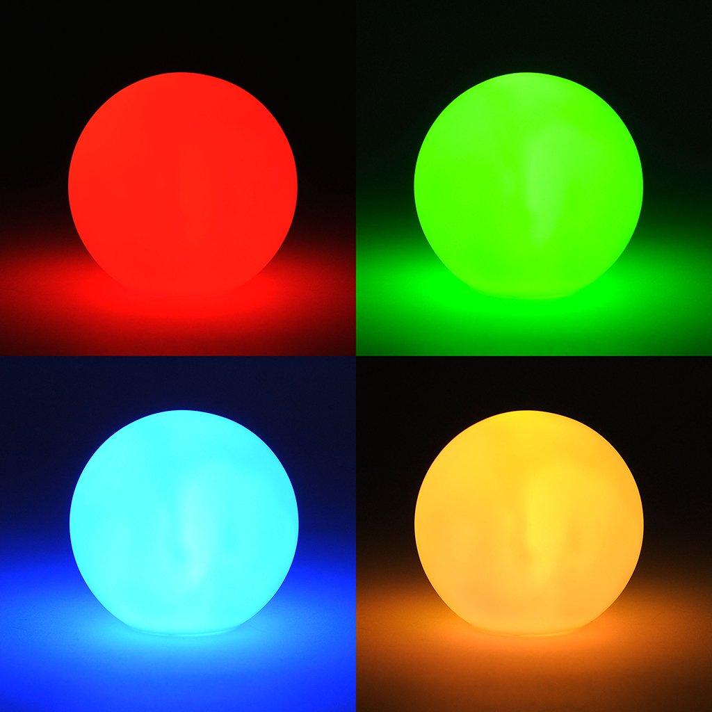 levandeo LED Kugel Farbwechsel - Kleine LED Lampe inklusiv Batterien - Leuchte Effektkugel Leuchtkugel Deko Farbwechsler Stimmungskugel [Energieklasse A++]