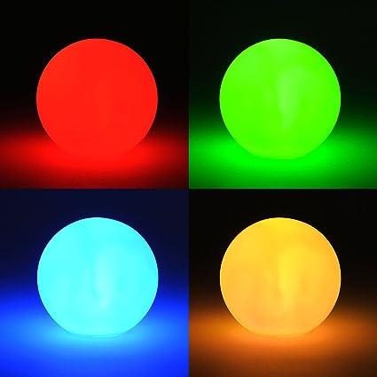 Lámpara LED con cambio de color – Pequeña bola de lámpara LED, incluye pilas – Bola de luz decorativa, cambio de color, iluminación de ambiente