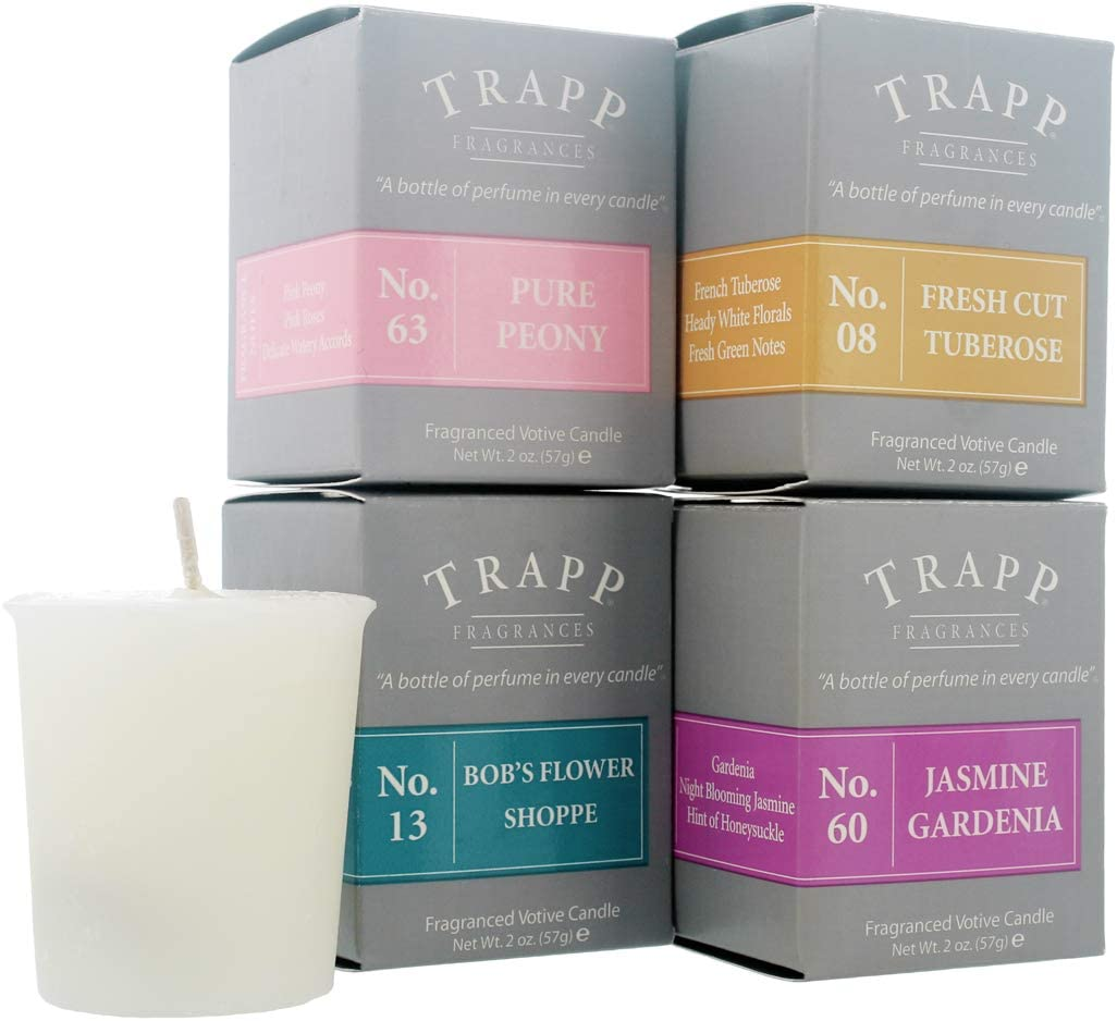 Trapp 2oz Votive Scented Candle Floral Favorites Variety, Set of 4