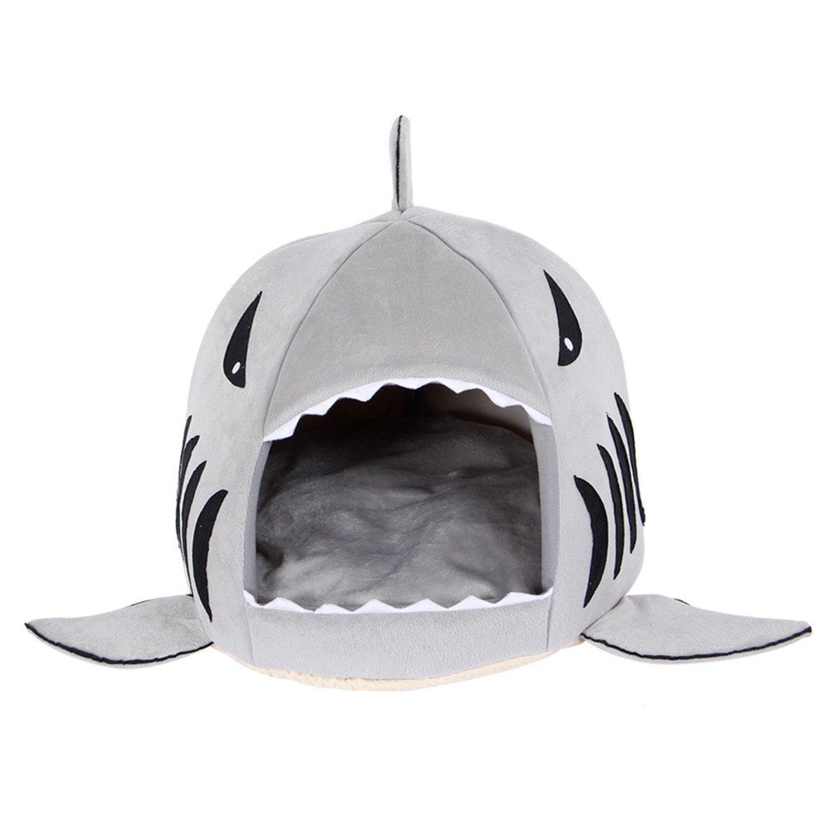 Runfon Cuscino Casa Interno Gatto Materasso Letto Cane a Forma squalo con Cuscino Removibile Prezzi offerte
