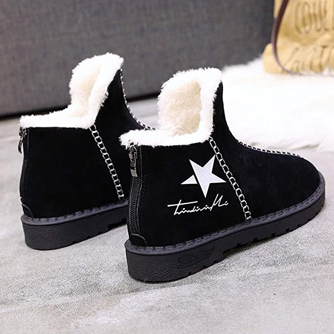 3d015840983d0 Women Snow Warmer Platform Boots, NDGDA Winter Star Logo Plus Velvet Hot  Shoes (Black, US:6): Amazon.co.uk: Software