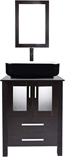 Puluomis Modern Furniture 24 Inch Single Sink Bathroom Vanity