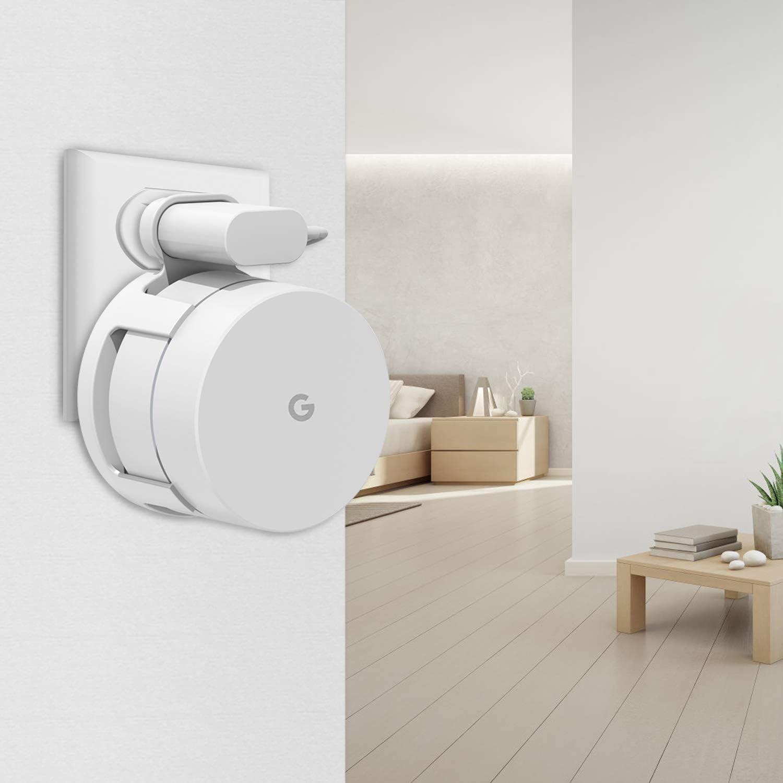 3 unidades Soporte de pared para Google WiFi para enrutador Google WiFI y Google Mesh con gesti/ón de cables no necesita tornillos