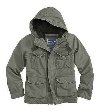 Surplus Supremo Vintage Hydro chaqueta Parka con capucha para hombre resistente al agua multicolor verde oliva XL: Amazon.es: Ropa y accesorios