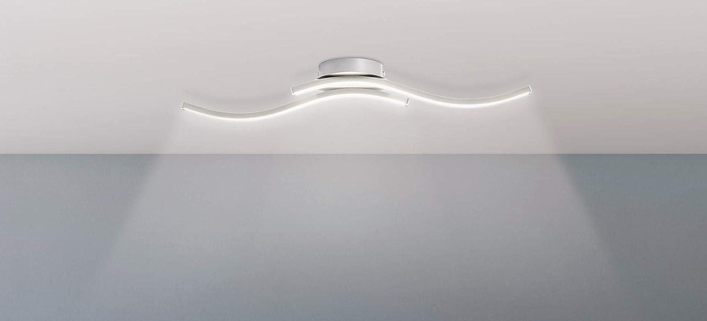 Trango Design moderno Plafoniera a LED / applique da bagno / applique TG3159 inclusa 2x modulo LED 3000K bianco caldo direttamente 230V [Classe di efficienza energetica A+]