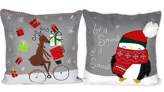 Lovein fieltro cojín Throw fundas de almohada cubre Navidad ...
