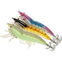 Lixada 3/5pcs 12 cm/21 Noctilucentes Pesca Camarones Señuelo Cebo de Calamar de Gambas