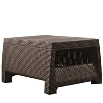 Admirable Amazon Com Above Ground Pool Side Table Resin Wicker Coffee Download Free Architecture Designs Scobabritishbridgeorg