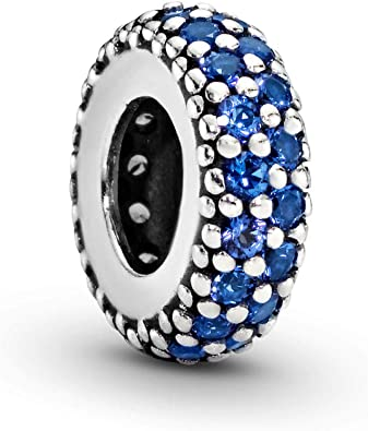 Pandora Jewelry Blue Sparkle Spacer Crystals Charm in Sterling Silver