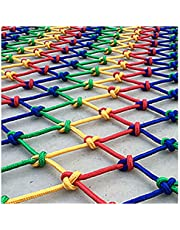 Rope Children's Stairs Safety Net Colored Rope Net 6mm*8cm Child Safety Stairs Net 2 * 2M Colored Polyester Fence Protective Partition Fall Protection Safety Net(Size:10 * 10m(33 * 33ft))