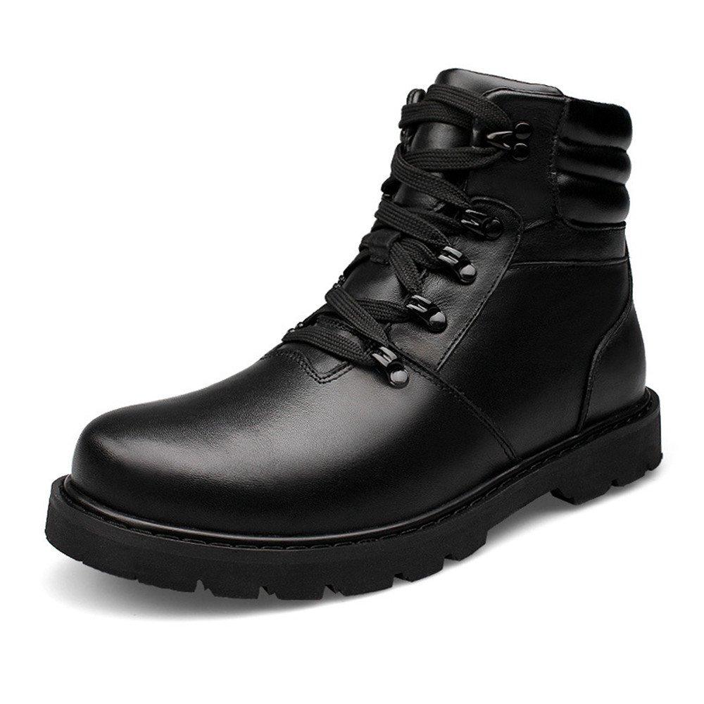 Männer - schuhe für hohe winter freizeitaktivitäten im freien schuhe und schuhe für größe lederschuhe warm kaschmir,schwarz,45