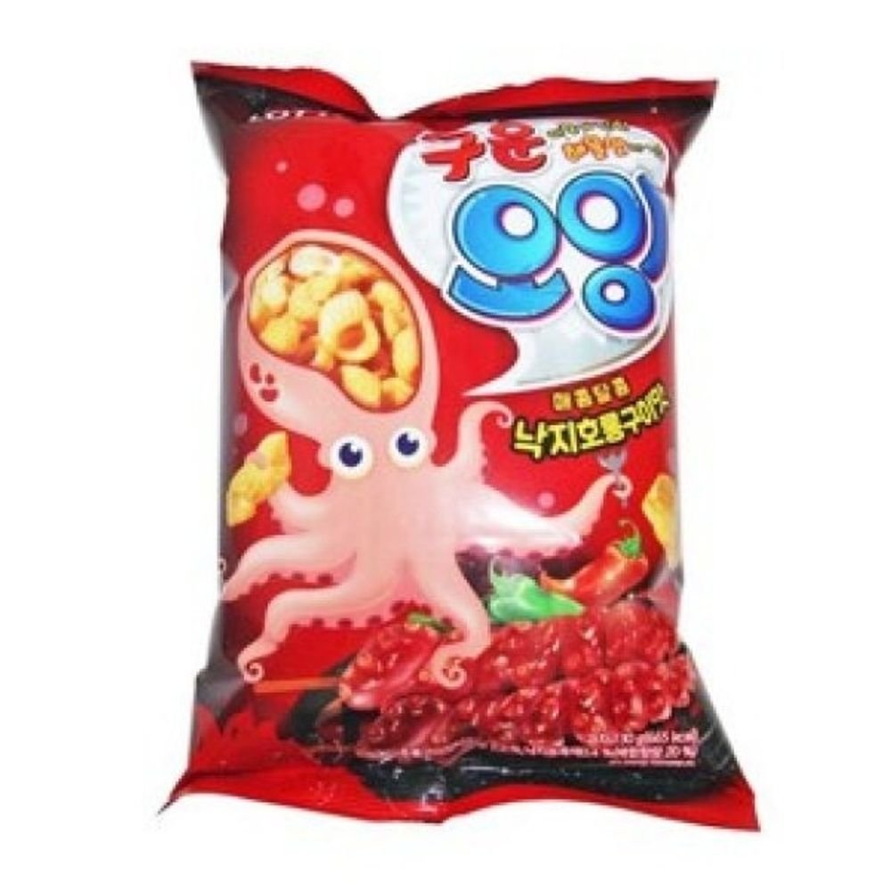 Lotte Oing Squid Flavour Snack Octopus Roasted Flavor Small Size X 4 오잉