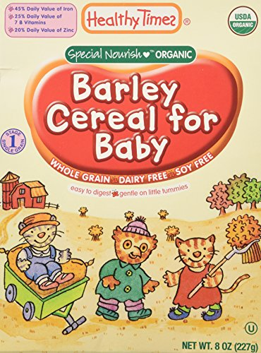 Image of the Healthy Times Whole Grain Baby Cereal - Barley - 8 oz