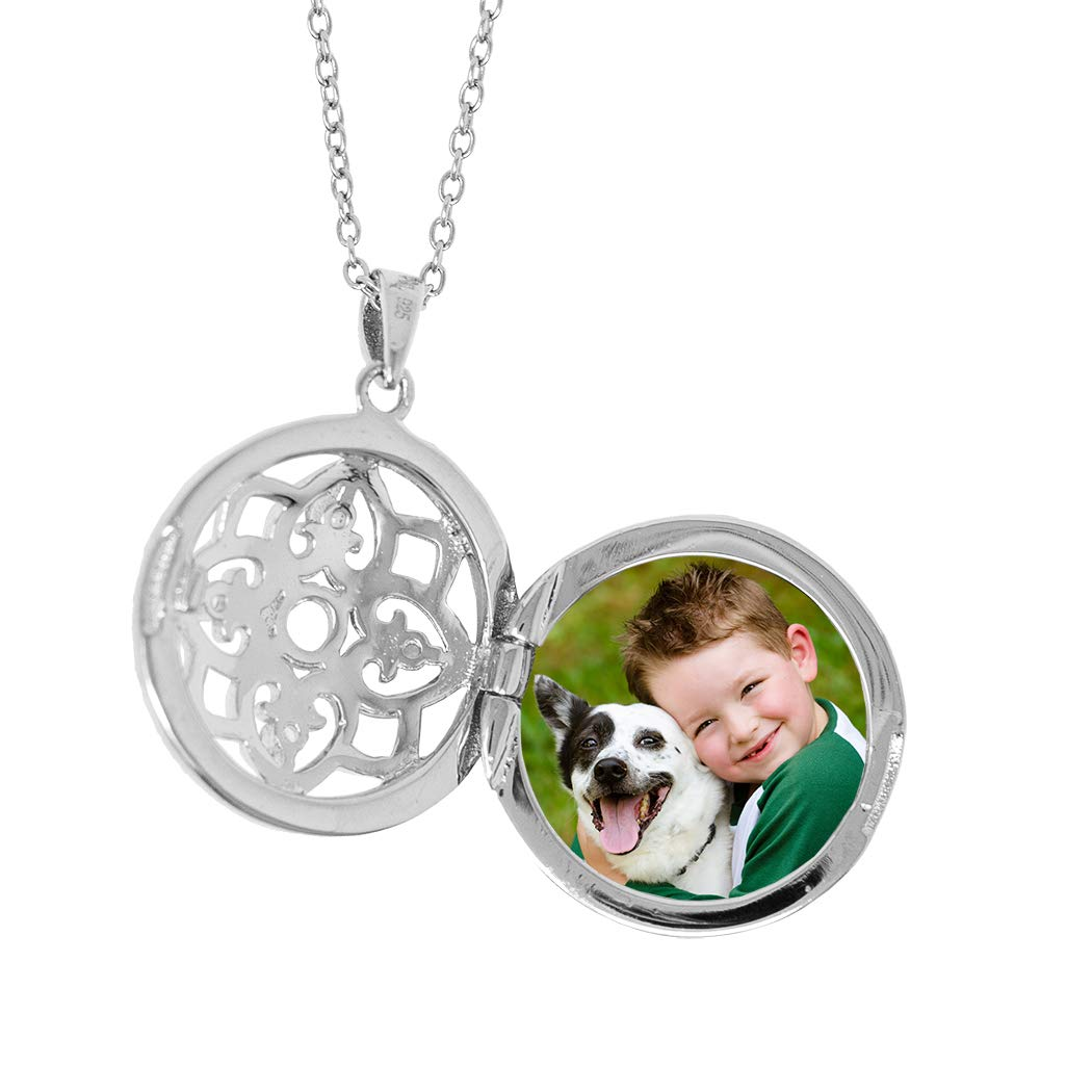 With You Lockets-Fine Sterling Silver-Custom Photo Locket Necklace-That Holds Pictures for Women-The Elsie