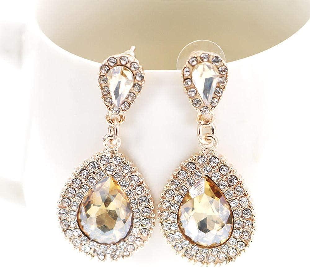 Zxx17 Broche Vintage para Mujer la Ropa,Ropa de Fiesta, ect,Joyería de Personalidad Personalizada de Tendencia de Moda, Joyas de Damas de Gota de Diamantes de Piedras Preciosas exageradas