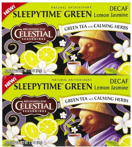 Celestial Seasonings Sleepytime Decaf Lemon Jas Green Tea Bags, 20 ct, 3 pk Review
