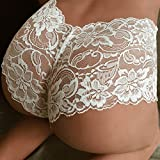 Gallity Sexy Underwear Women, Women Lace T-Back Thong G-String Knicker Underpants Sexy Lacy Panties (XL, White)
