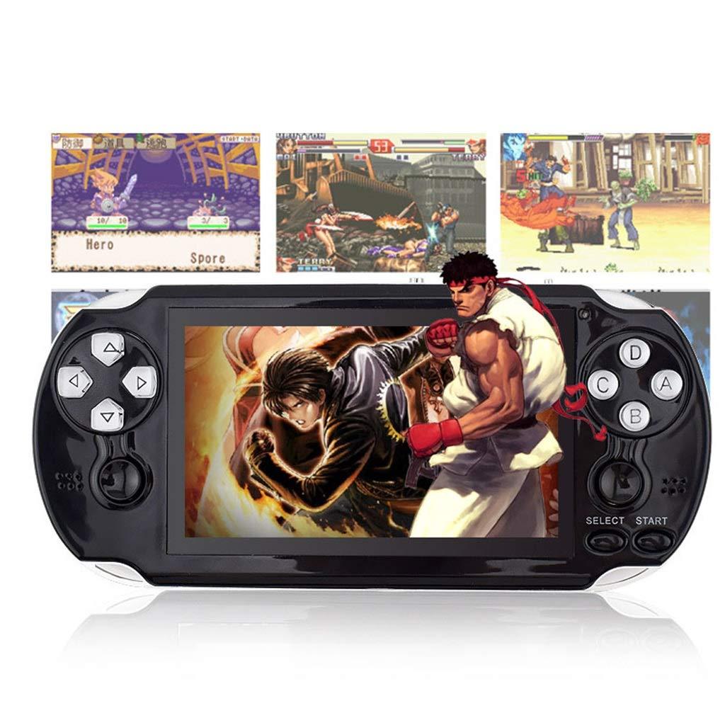 YXJGXX Handspielkonsole, Pap-Spiel2 32-Bit-Spielkonsole (Schwarz)