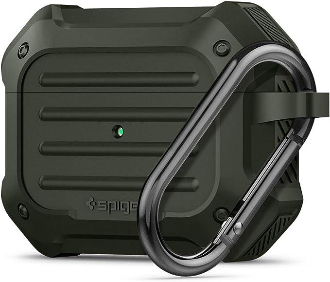 Spigen Tough Armor Entwickelt Für Apple Airpods Pro Hülle 2019 Militärgrün Elektronik