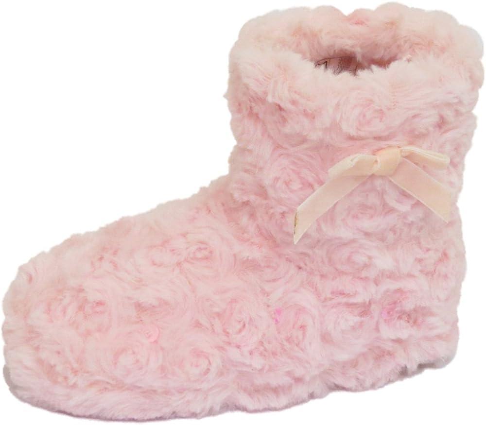 Girls Childrens Kids Flat Pink Pull-On