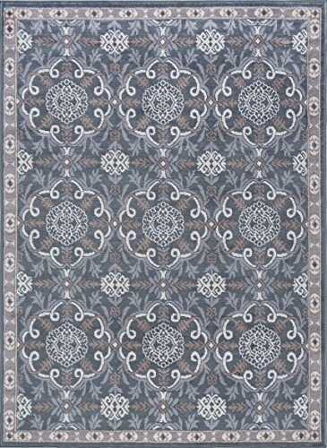 Universal Rugs HMP3809 5x7 Izel Area Rug 5' x 7' Gray