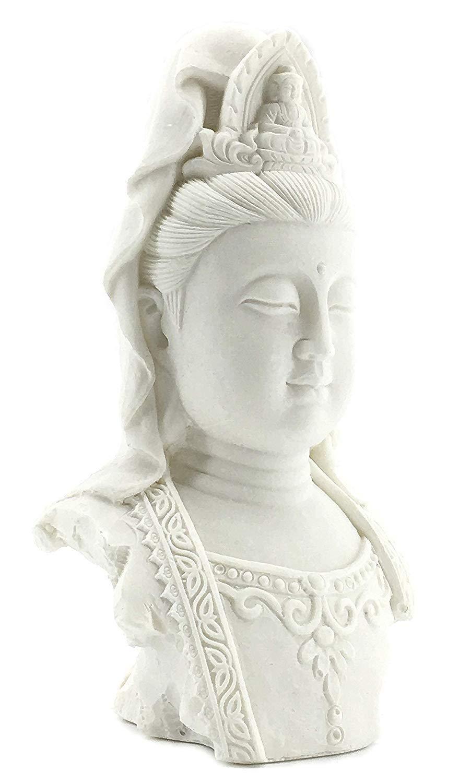 Bellaa 23750 Tibet Buddha Bust Meditating Peace Harmony Statue Kuan Yin