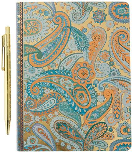 (Punch Studio Journal and Pen Set, Blue Paisley (43933))