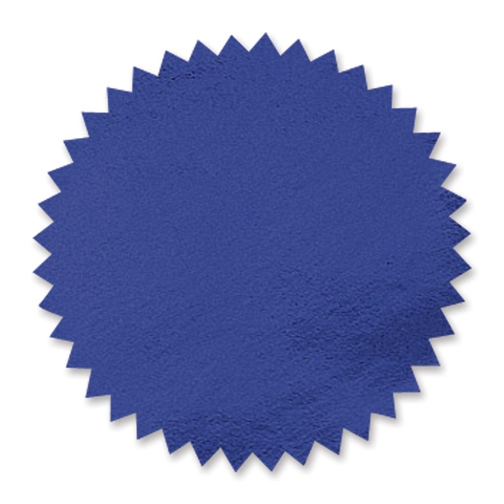 Blue Foil Embossed Scallop Edge Certificate Seals, 102 Pack