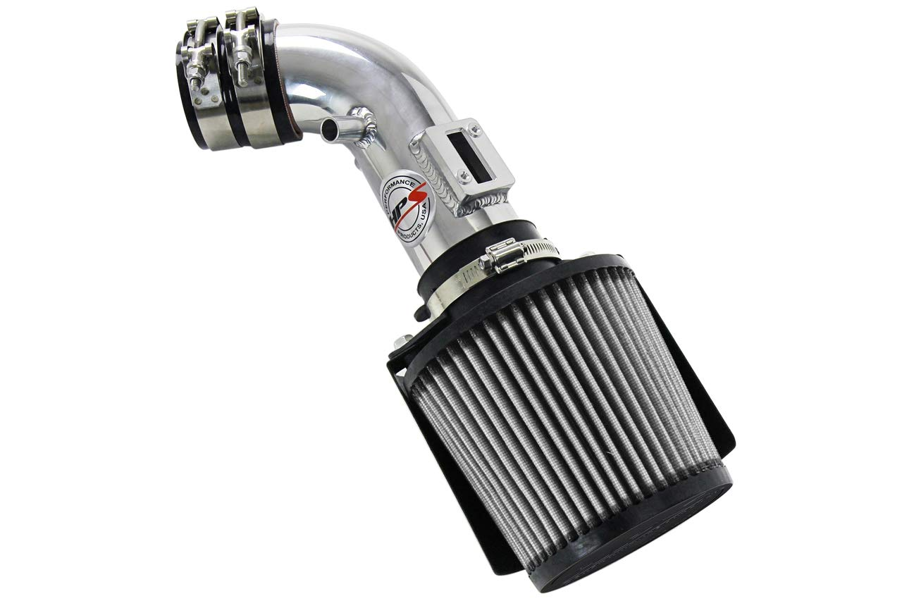 HPS Performance 827-163BL Blue Shortram Air Intake Kit Heat Shield Cool Ram 1 Pack