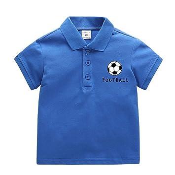 Camiseta Para Niños Camisa Polo Nuevo Verano Niño Logo De Futbol 2 ...