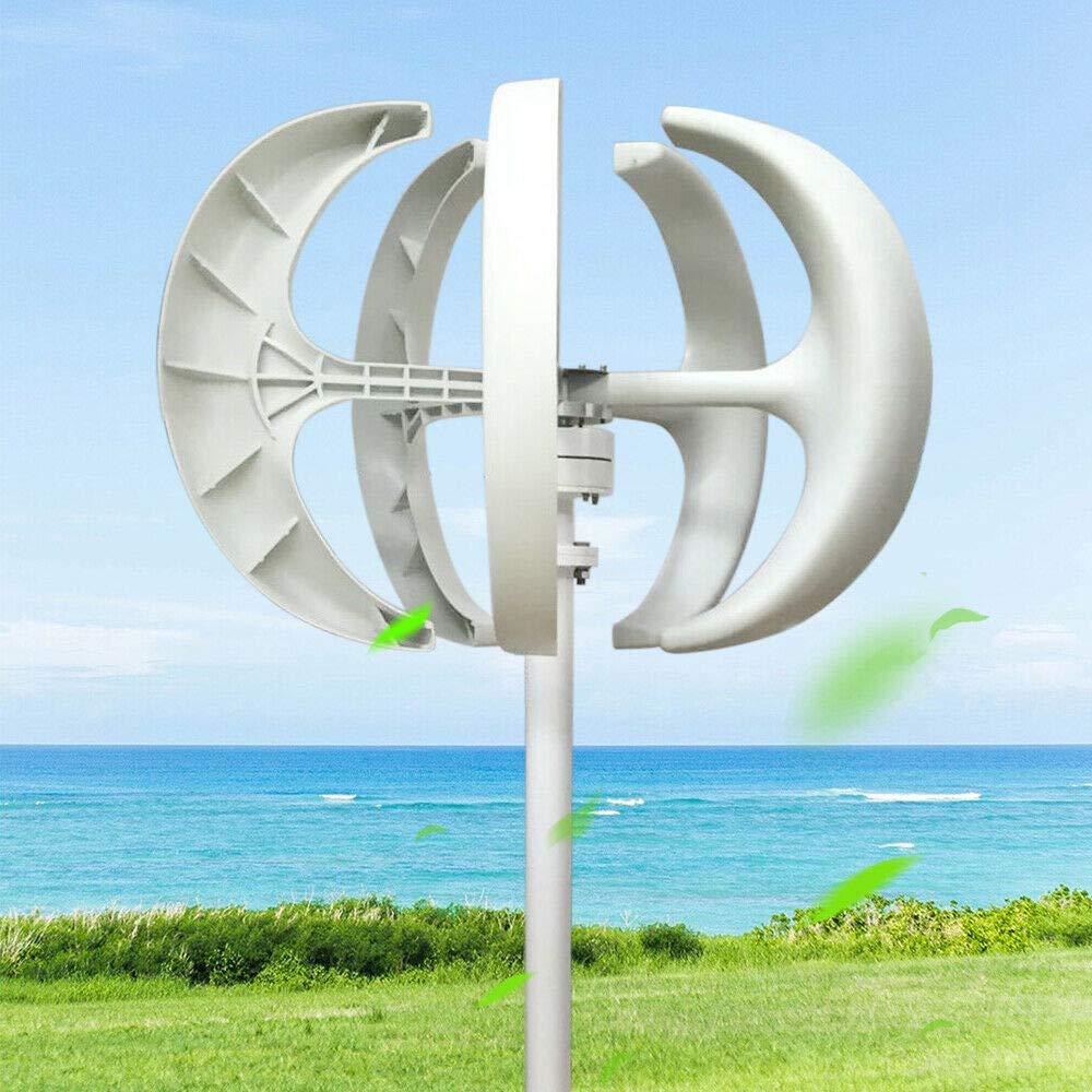 Generador de viento con controlador, vertical, turbina, generador de energía eólica 600 W, 12 V