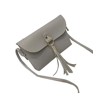 Outsta - Bolsas de hombro con borla y bolso de mano, estilo vintage, tamaño