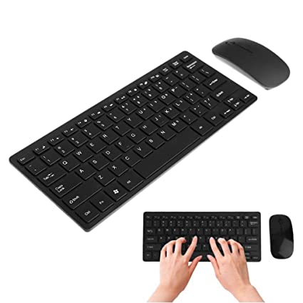 f3e8877954a Amazon.com: NNDA CO Wireless 2.4GHz Mini Keyboard Ultra-Thin Mouse Combo Set  For Desktops Laptops (black): Electronics