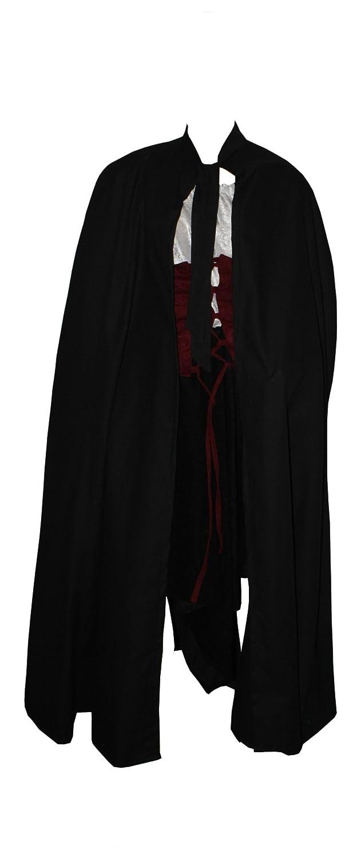 Kreativwunderwelt Umhang aus schwerer schwerer schwerer Baumwolle - 140cm - schwarz - ohne Kapuze 76feab
