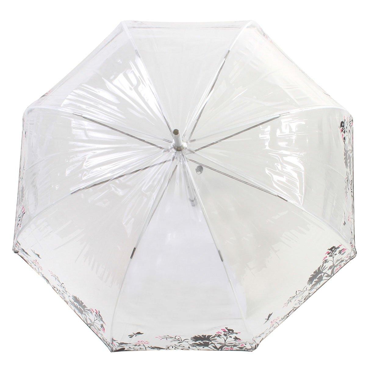 Isotoner Paraguas Cesta transparente para mujer PVC/Végétal: Amazon.es: Ropa y accesorios