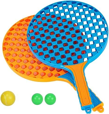 Details about  /Multi Color 2 Pcs Kids Table tennis badminton Plastic Racquet