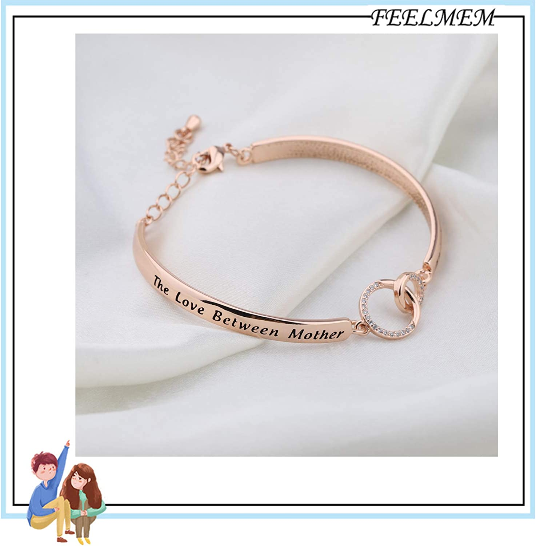FEELMEM Family Jewelry Grandma Bracelet The Love Between Grandmother and Granddaughter is Forever Bracelet Nana Gifts Grammy Gifts Grandmother Gifts from Granddaughter