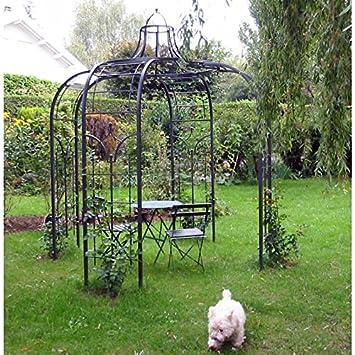 Tonnelle, pergola, fer forgé, mobilier de jardin, coin salon, pavée ...